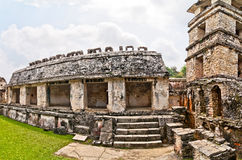 Palace observation tower in Palenque, Chiapas, Mexico Stock Images