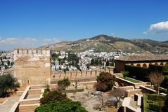 Palace Of Alhambra, Granada. Stock Photo