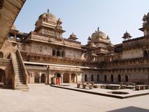 Palace in Orcha, Madhya Pradesh Stock Photos