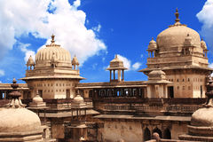 Palace in Orcha, Madhya Pradesh state, India Royalty Free Stock Photo