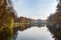 Palace Over Water in Lazienki park, Warsaw, Poland Stock Photo