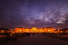 Palace and palace garden Schoenbrunn, Vienna, Austria Stock Photography