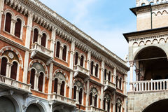 Palace and palazzo della ragione in Padua city. Travel to Italy - palace and palazzo della ragione on Piazza delle Erbe in Padua city in spring Stock Images