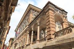 Palace Palazzo Doria Tursi at via Garibaldi Royalty Free Stock Images