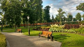 Palace and park. Park around the palace Princess of Oldenburg Royalty Free Stock Images