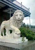 Lions of the Vorontsov Palace. The palace and park of Count Vorontsov on the southern coast of the Crimea Royalty Free Stock Image