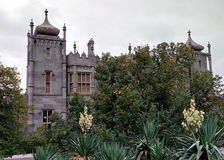 Vorontsov Palace. The palace and park of Count Vorontsov on the southern coast of the Crimea stock photography