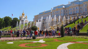 Palace and park ensemble Peterhof. St. Petersburg, Russia stock footage