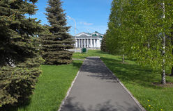 In the palace park at the Palace of Culture named Okuneva. Nizhny Tagil. Stock Photo