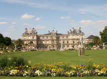 Palace and Park in Paris royalty free stock image