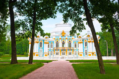 Palace in park of Pushkin, Russia Royalty Free Stock Image