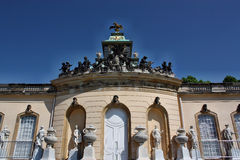 Palace in the park Sanssouci Royalty Free Stock Photos