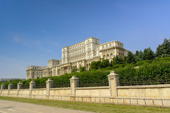 The Palace of the Parliament. Also known as The People's House in Bucharest, Romania royalty free stock photos