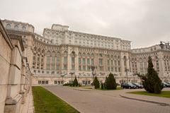 Palace of the Parliament in Bucharest. The Palace of the Parliament in Bucharest, Romania is a multi-purpose building containing both chambers of the Romanian royalty free stock images
