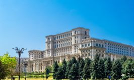 Palace of the Parliament, Bucharest stock photography