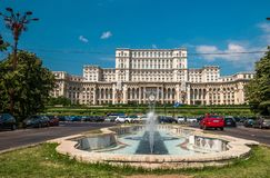 Palace of the Parliament in Bucharest, capital of Romania royalty free stock image