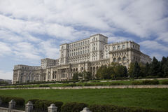 Palace of Parliament in Bucharest. Palace of Parliament landmark building in Bucharest, Romania Stock Image