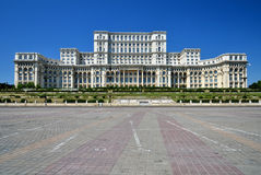 Palace of the Parliament, Bucharest, Romania. The Palace of the Parliament, the second largest building in the world, built by dictator Ceausescu royalty free stock photo
