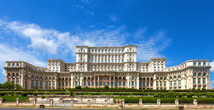 Palace of the Parliament in Bucharest Stock Images