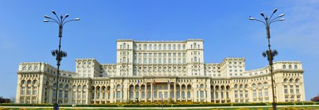 Palace of the parliament, bucharest romania. The building of the government of Romania, known as the Parliament Palace or by the communist name, the House of the royalty free stock photo