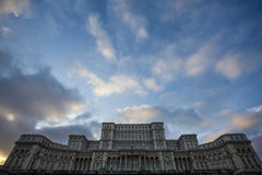 The palace of the parliament in Bucharest, Romania, Eastern Europe Royalty Free Stock Photos