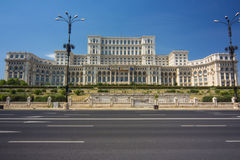 Palace of the Parliament in Bucharest, Romania stock photos