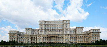 Palace of the Parliament in Bucharest Royalty Free Stock Photos