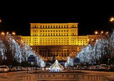 Palace of Parliament in Bucharest, Romania Royalty Free Stock Photos