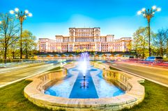 The Palace of the Parliament, Bucharest, Romania. The Palace of the Parliament, most important building in Bucharest, Romania royalty free stock photography