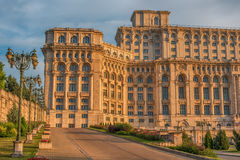 The Palace of the Parliament in Bucharest, Romania Stock Photos