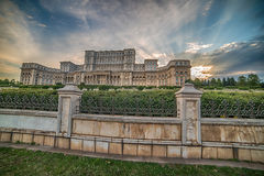 The Palace of the Parliament in Bucharest, Romania Stock Photography