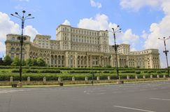 The Palace of the Parliament, Bucharest, Romania royalty free stock photo