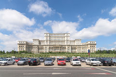 Palace of Parliament (Casa Poporului) Or House Of The People In Bucharest. BUCHAREST, ROMANIA - JULY 26, 2015: Palace of Parliament (Casa Poporului) Or House Of royalty free stock photos
