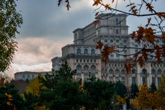 Palace of the Parliament. The heaviest building in the world Stock Images
