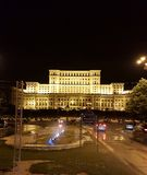 The Palace of the Parliament at night, Bucharest, Romania royalty free stock image