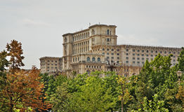 Palace of the Parliament of Romania in Bucharest. Romania Stock Photos