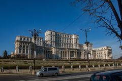 Palace of Parliament Bucharest, capital of Romania royalty free stock image