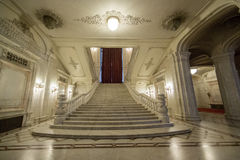 Palace of the Parliament stairway Royalty Free Stock Photos