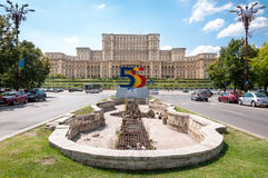 Palace of Parliament. At 555 years of Bucharest existence stock photography