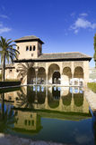 Palace of Partal zone. Alhambra. Walk of the Princesses (Paseo de las Infantas, in Spanish). Alhambra in Granada, Spain stock images