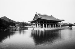 Palace Pavilion In Korea Stock Photo