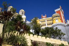 The Palace of Pena Portugal Sintra castle landscape Park Royal residence eclectic Stock Photo