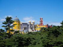 Palace of Pena, Sintra beautiful castle in Portugal Stock Image