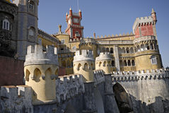 Palace Pena in town Sintra, Portugal Stock Photo