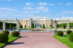 Palace in Peterhof. Saint-Petersburg, Russia stock photos