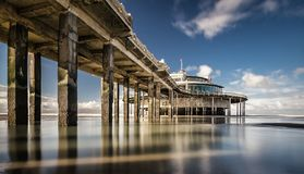 The palace pier. At Blankberg Belgium on the fascinating north sea Stock Image