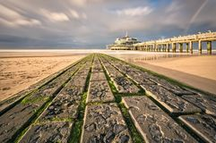 The palace pier. At Blankberg Belgium on the fascinating north sea Stock Photo