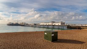 Palace Pier, Brighton, East Sussex, UK royalty free stock photo