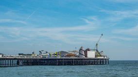 The Palace pier in Brighton and Hove. View of the Palace pier in Brighton Royalty Free Stock Photography