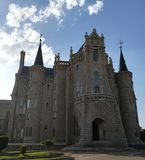 The palace of pilgrims in astorga in the cammino to santiago royalty free stock photos
